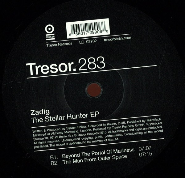 ZADIG | The Stellar Hunter (Tresor) – Vinyl