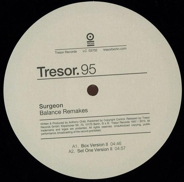 SURGEON   Balance Remakes (Tresor) – Vinyl