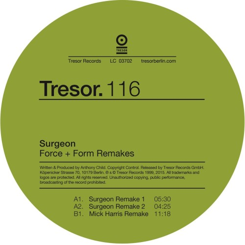 SURGEON | Force + Form Remakes (Tresor) - Vinyl