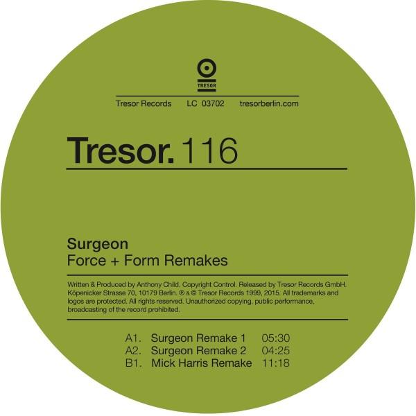 SURGEON | Force + Form Remakes (Tresor) – Vinyl