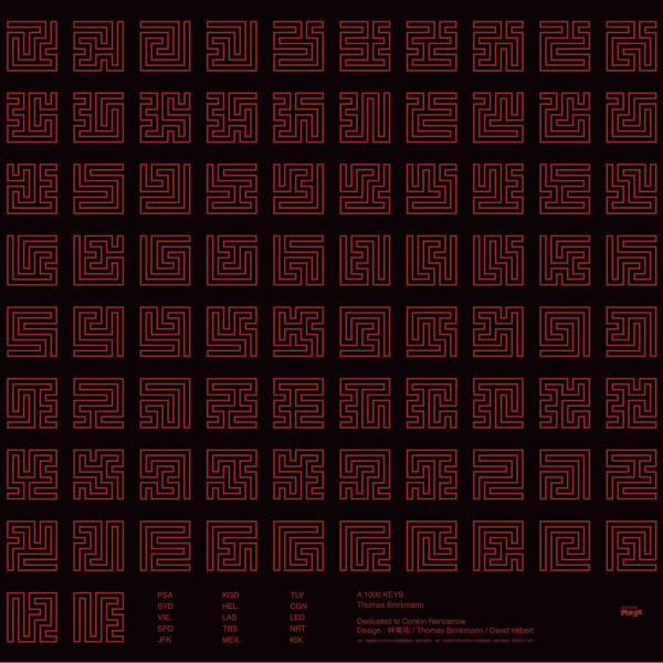 THOMAS BRINKMANN | A 1000 Keys (Editions Mego) – CD/LP