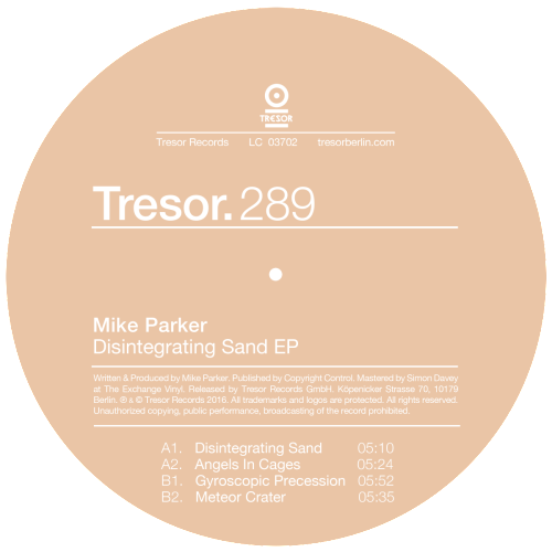 MIKE PARKER | Disintegrating Sand EP (Tresor)