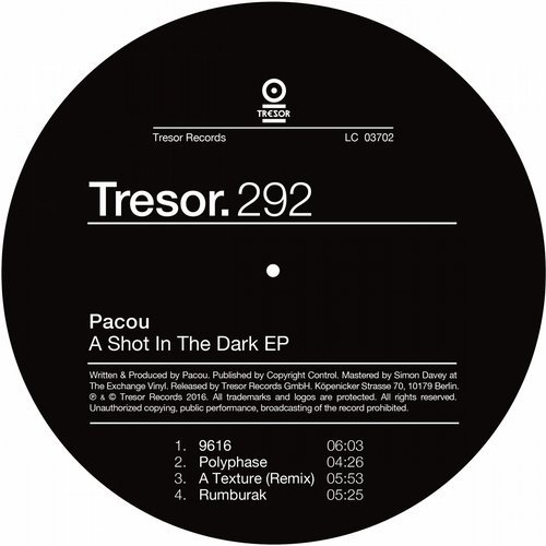 PACOU | A Shot In The Dark (Tresor) - EP
