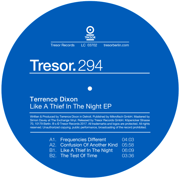 TERRENCE DIXON | Like A Thief In The Night (Tresor) – EP