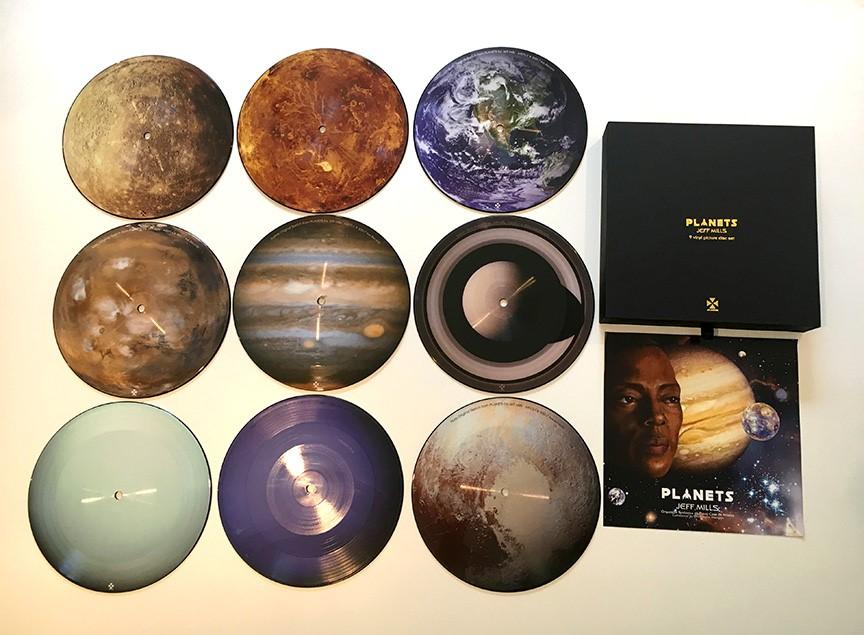 Jeff Mills Planets Axis Records 7 Vinyl Box