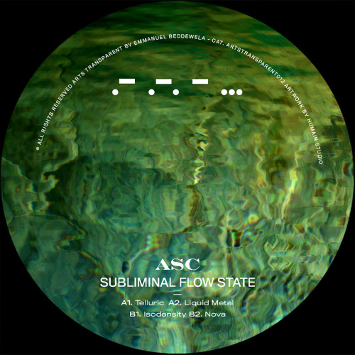 ASC work is consistent and inspiring, the artist is back in full form on our Transparent section with a full masterpiece served on green marbled vinyl.