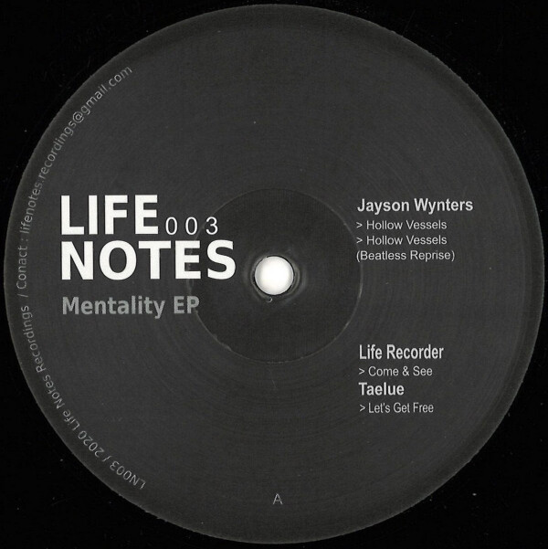 Mentality EP | VARIOUS ARTISTS (Life Notes Recordings) – EP